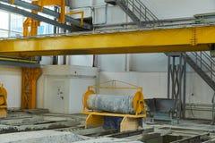 Rękodzielnicze betonowe płyty zbrojona betonowa produkcja Zdjęcie Royalty Free