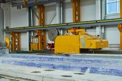 Rękodzielnicze betonowe płyty zbrojona betonowa produkcja Obraz Royalty Free