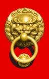 rękojeść chiński drzwiowy styl obrazy stock