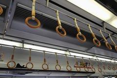 Rękojeści przy metrem Obrazy Stock