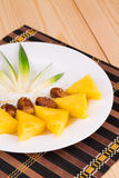 Rżnięci ananasy Obrazy Royalty Free