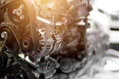 Rżnięci metalu samochodu parowozowej części szczegóły Fotografia Stock