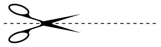rżnięci nożyce Fotografia Stock