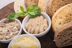 Rżnięci plasterki chleb Zdjęcia Royalty Free