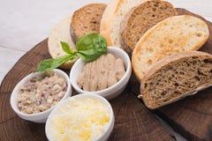 Rżnięci plasterki chleb Obrazy Stock