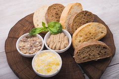 Rżnięci plasterki chleb Obrazy Royalty Free