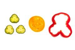 Rżnięci surowi warzywa Fotografia Stock