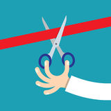 rżnięci tasiemkowi nożyce royalty ilustracja