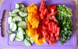rżnięci warzywa Zdjęcia Royalty Free