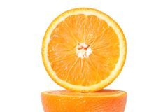 rżnięta świeża pomarańcze Obraz Stock