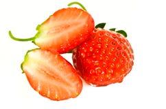 Rżnięta czerwona truskawka Obraz Stock