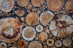 Rżnięta drzewna mozaika Fotografia Royalty Free