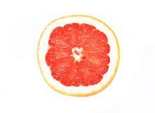 rżnięta grapefruitowa połówka Zdjęcie Stock