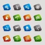 rżnięta ikon kwadratów pogoda Zdjęcie Stock