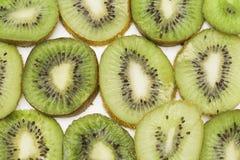 Rżnięta kiwi owoc Zakończenia tła tekstura zdjęcie royalty free