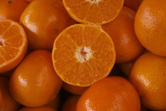 Rżnięta oddalona tangerine pomarańcze fotografia stock