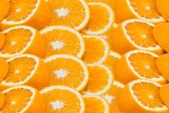 Rżnięte pomarańcze Fotografia Royalty Free
