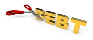 rżnięty dług Obrazy Stock