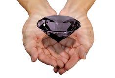 rżnięty diament wręcza ampułę Zdjęcie Stock