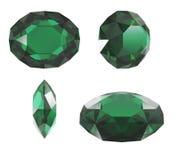 rżnięty diamentowy szmaragd Obraz Stock
