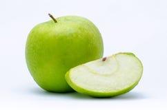Rżnięty jabłko - zieleń cztery Zdjęcia Royalty Free