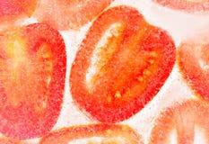 Rżnięty kształt pomidor Obrazy Stock