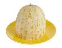 Rżnięty melon kłama na naczyniu obraz royalty free