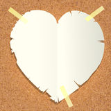 rżnięty serca papieru kształt Obrazy Royalty Free
