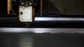 Rżnięty szkotowy metal przy warsztatem klamerka Włókno laserowe maszyny dla metalu tnącego zakończenia Nowożytny narzędzie w prze zbiory wideo