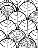 r Μαύρο συρμένο χέρι διακοσμητικό σχέδιο στο άσπρο υπόβαθρο Διακοσμητικό σχέδιο για το εσωτερικό, θέση διανυσματική απεικόνιση