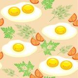 r Ορεκτικά ανακατωμένα αυγά με τις ντομάτες, τον άνηθο και το μαϊντανό Εύγευστος και γρήγορο φαγητό Κατάλληλος ως ταπετσαρία ελεύθερη απεικόνιση δικαιώματος