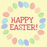 r Χαριτωμένη επιγραφή σε ένα στεφάνι των αυγών Πάσχας ελεύθερη απεικόνιση δικαιώματος