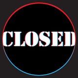 r Мы закрыты снова Знамя, рекламируя деятельность Мега предложение, идея бесплатная иллюстрация
