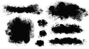 r Набор paintbrush вектора Элементы дизайна Grunge стоковые фото