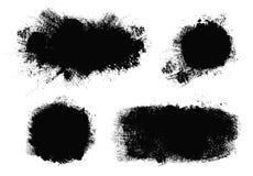 r Набор paintbrush вектора Элементы дизайна Grunge стоковое изображение rf