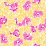r пинк и желтые цветки r флористический фон краска ткани повторяющийся предпосылка ткань иллюстрация штока