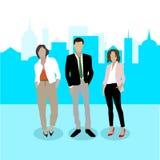 r Уверенные предприниматели иллюстрация штока