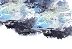 r 丙烯酸酯的颜色 五颜六色的污点 E 免版税库存图片