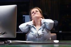 r 令人讨厌的人一名妇女的从疲劳的 免版税库存图片