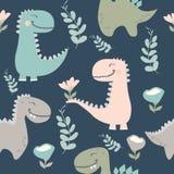 r 作为孩子时尚的传染媒介被画的逗人喜爱的恐龙 皇族释放例证