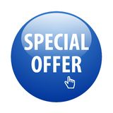 Special offer button. Vector illustration of glossy special offer web button on isolated white background stock illustration