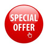 Special offer button. Vector illustration of glossy special offer web button on isolated white background vector illustration