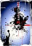 βρώμικη αφίσα καλαθοσφαί&r Στοκ εικόνες με δικαίωμα ελεύθερης χρήσης