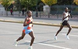 ?r, 2ème, marathon 2008 d'Athènes Photos stock