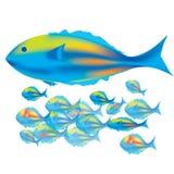το ψάρι μωρών αλιεύει τη μητέ&r Στοκ Εικόνα