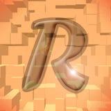 r alfabet szereg listowe Obrazy Stock