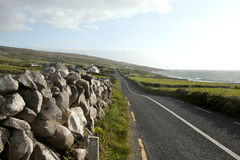 R477 along The Burren loop, County Clare Stock Image