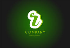 R alphabet letter logo green 3d company vector icon design Royalty Free Stock Photography