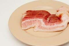 rå bacon Fotografering för Bildbyråer