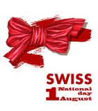 1r August Swiss National Day Vector el ejemplo de la festividad nacional con la bandera suiza y los elementos patrióticos creativ libre illustration